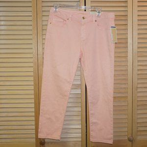 Michael Kors Pink Izzy Cropped Skinny Jeans